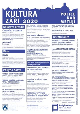 Přehled akcí - září 2020