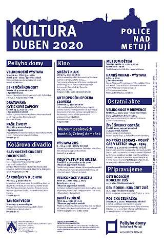 Přehled akcí - duben 2020